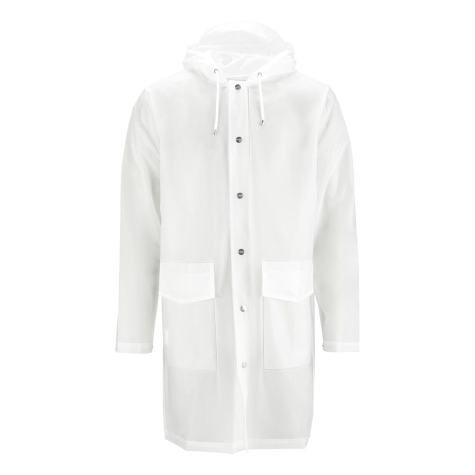 Rains Hooded Coat - transparent white