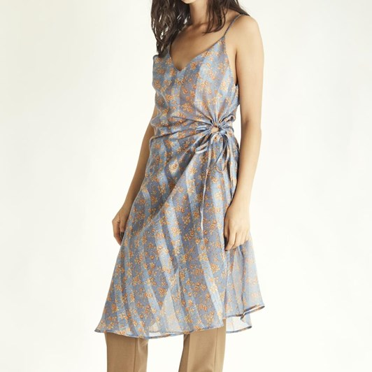 Wynn Hamlyn Curtain Slip Dress