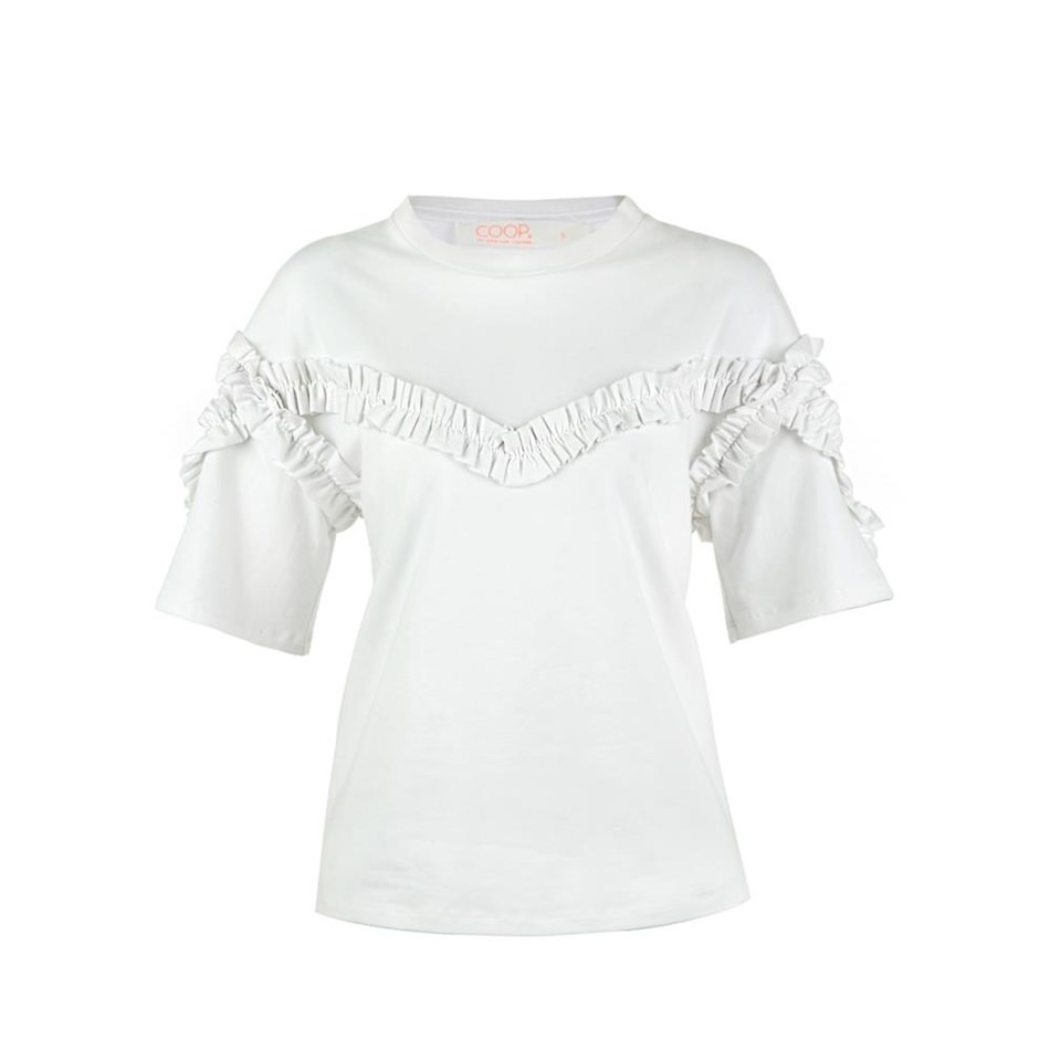 Coop Frillion Dollar Baby Top - white