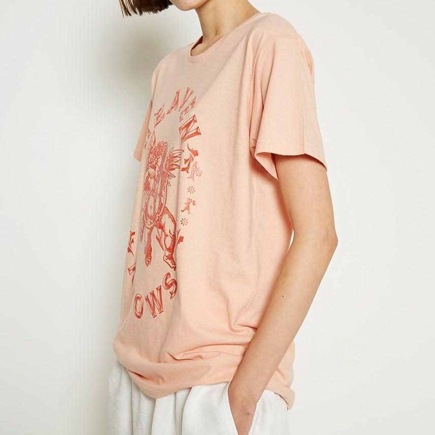 Karen Walker Celestial Cherub T-Shirt - peach