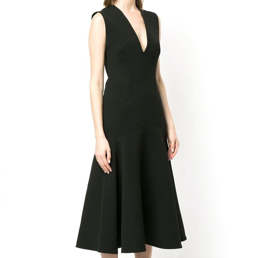 Camilla And Marc Ames V Neck Dress - black