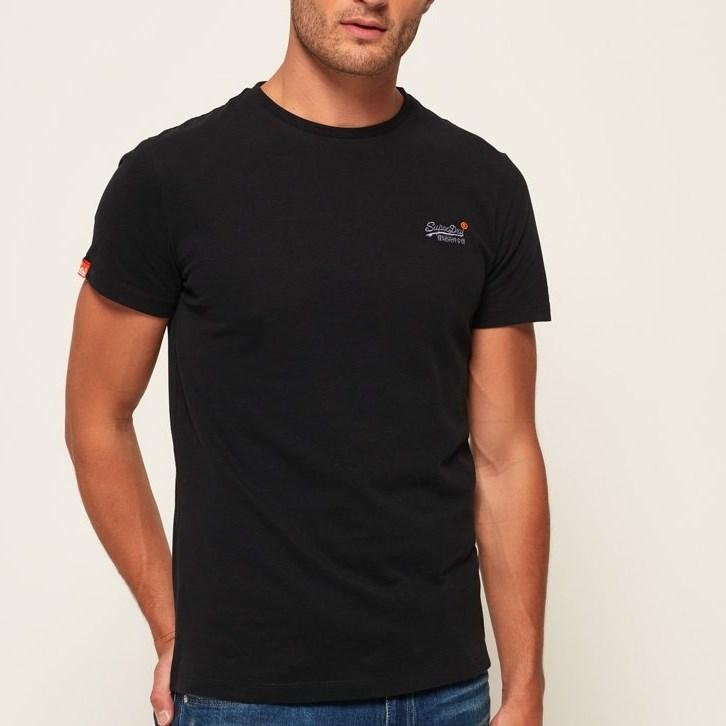 Superdry Orange Label Vintage Embroidery T-Shirt - 4xj new black