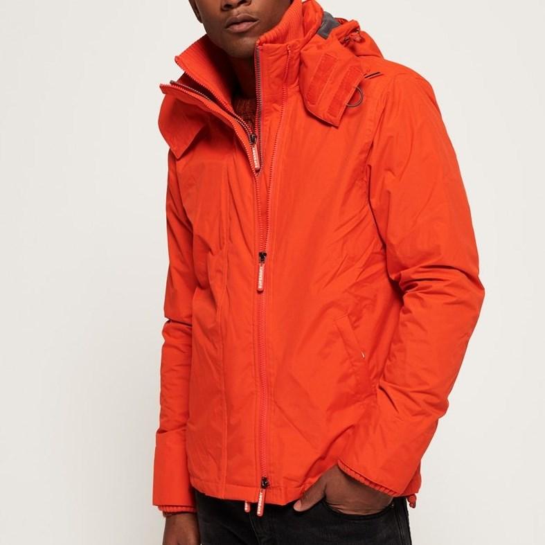 Superdry Technical Hooded Pop Zip SD-Windcheater Jacket - 4ne acid orange-dark grey
