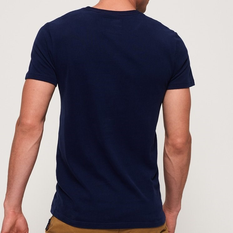 Superdry Vintage Logo Entry Tee - 4rm tin tab navy