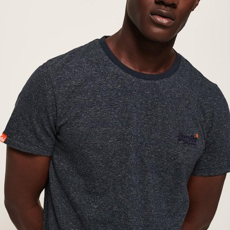 Superdry Orange Label Vintage Embroidery T-Shirt - 4pv navy fleck
