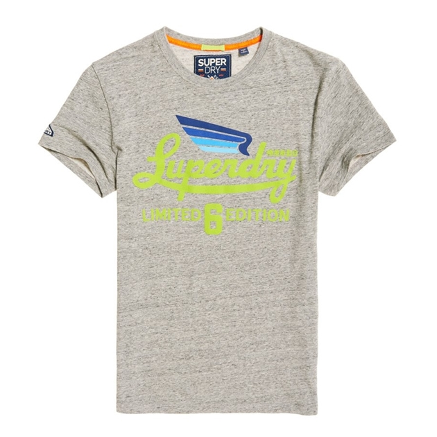 Superdry Limited Icarus Tee - 14e grey birdsey