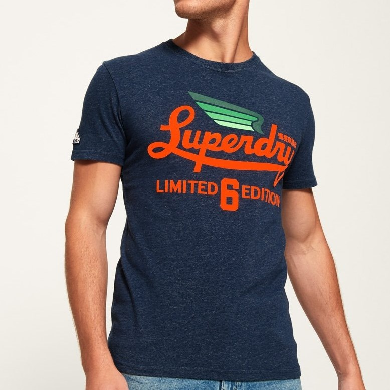Superdry Limited Icarus Tee - 4r5 navy birdsey