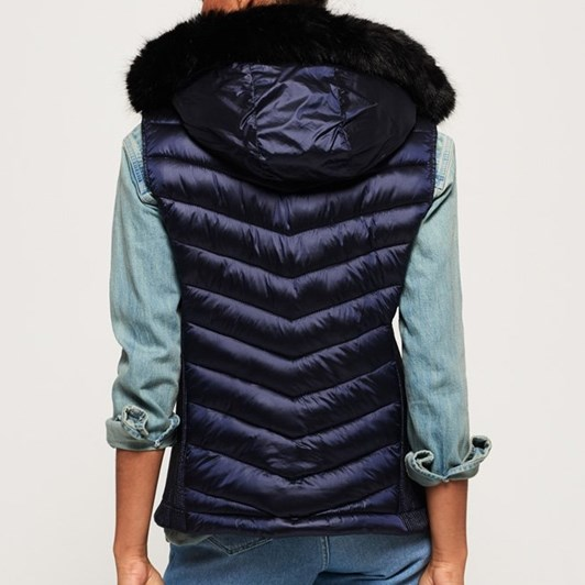 Superdry Luxe Chevron Double Zip Vest