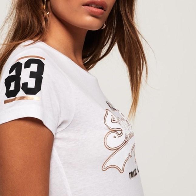 Superdry Vintage Logo Duo Foil T-Shirt - 4rj optic snowy