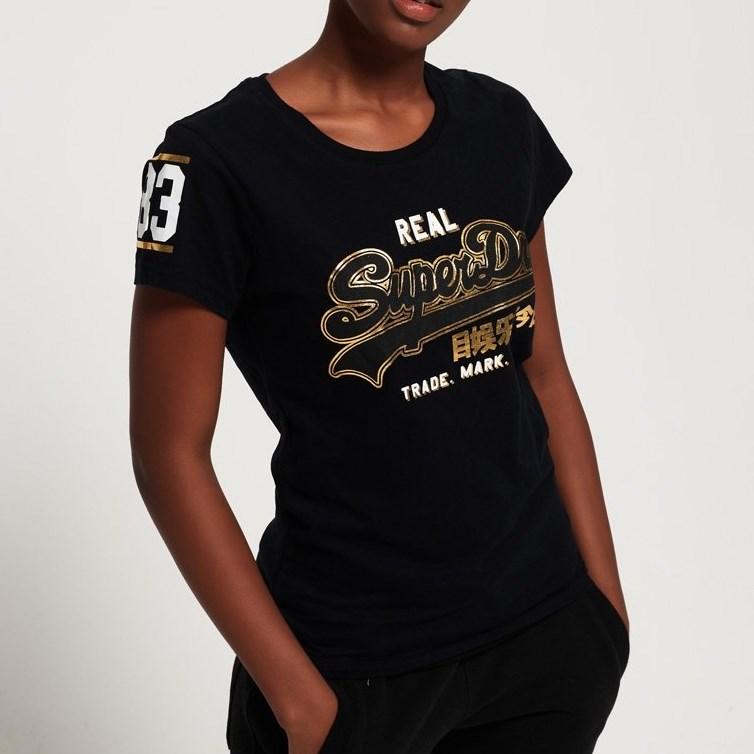 Superdry Vintage Logo Duo Foil T-Shirt - blk black
