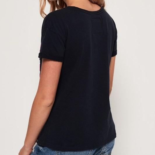 Superdry Premium Goods Embossed Slim Boyfriend T-Shirt