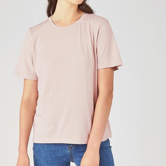 Huffer Stella Tee / Cont Badge - dusky - pink