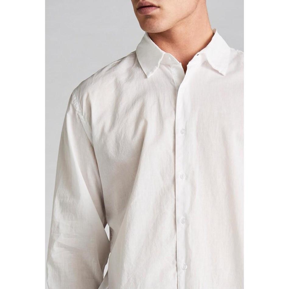 Jac + Jack Folded Collar Shirt - white