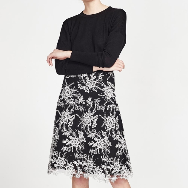 Juliette Hogan Rosemund Skirt - monochrome