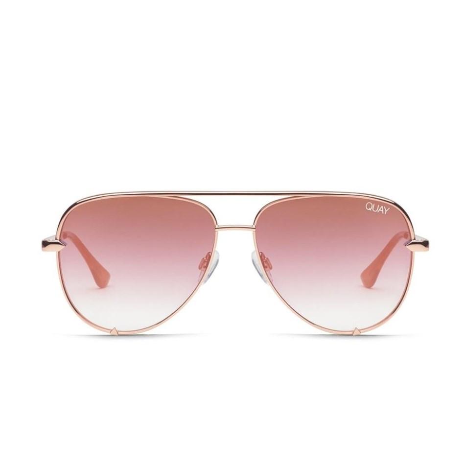 Quay High Key Sunglasses - rose copper fade