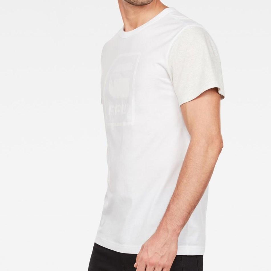 G-Star Graphic 3 R T-Shirt S\S - white white htr