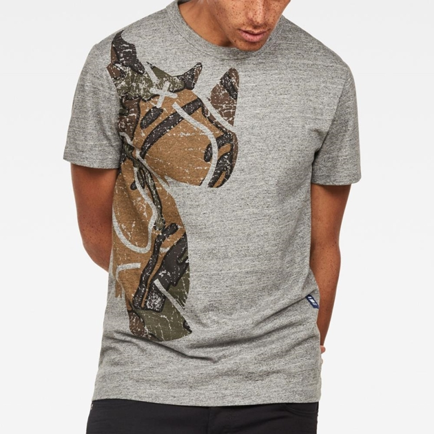 G-Star Graphic 5 R T-Shirt S\S - grey htr