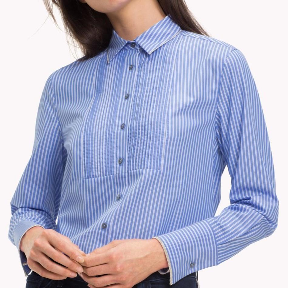 Tommy Hilfiger Lulu Shirt L/S - blue wht stripe