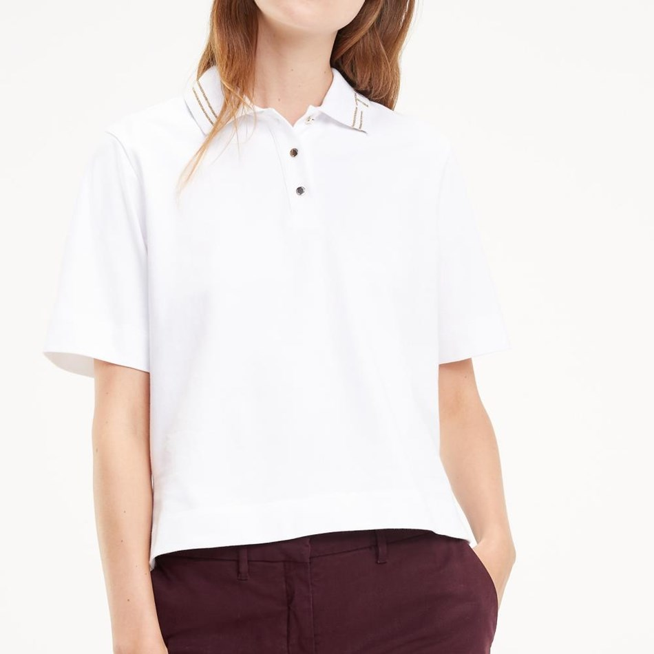 Tommy Hilfiger Im Harley Th Collar Polo - classic white