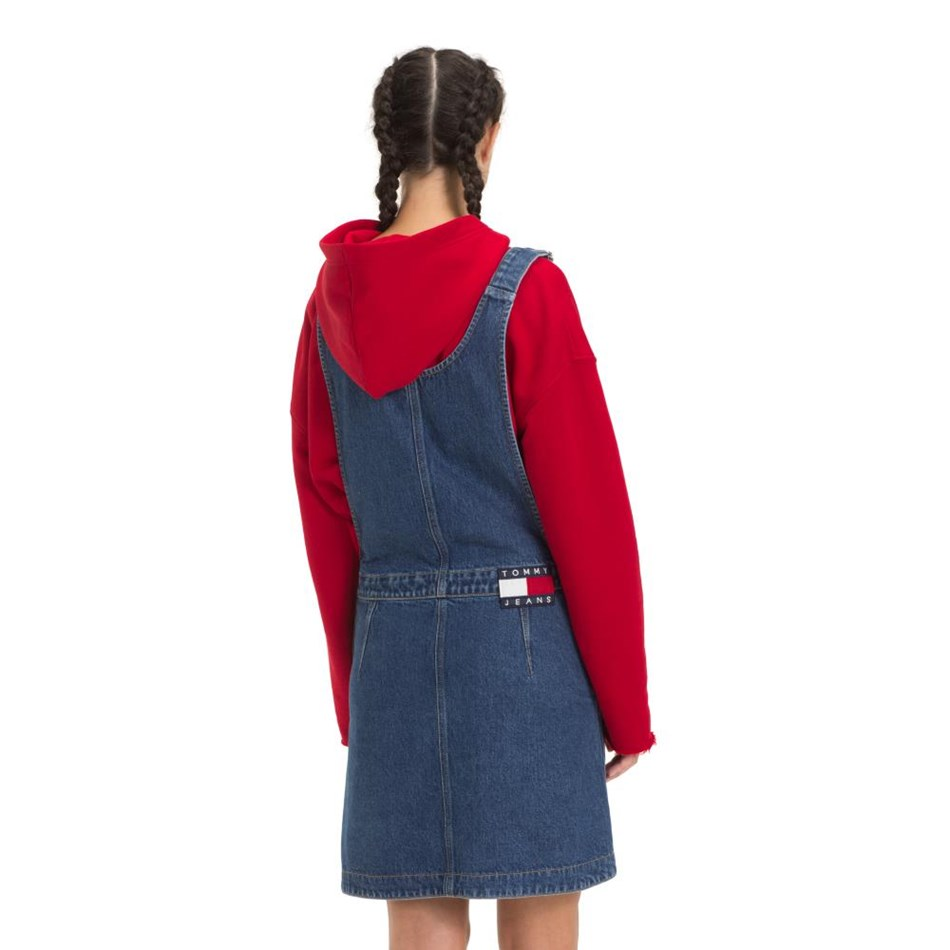 Tommy Jeans A Line Dungaree Dress -