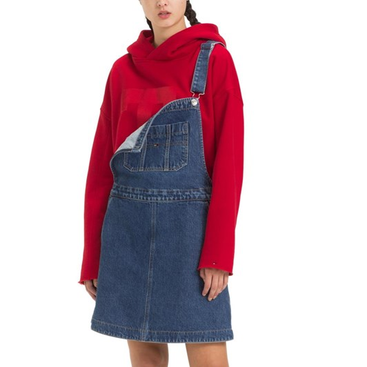 Tommy Jeans A Line Dungaree Dress