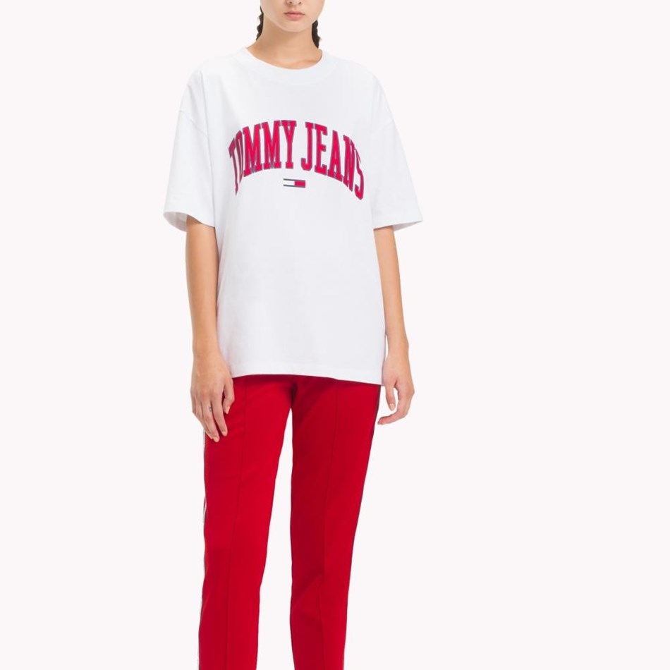 Tommy Jeans Collegiate Logo Tee - classic white