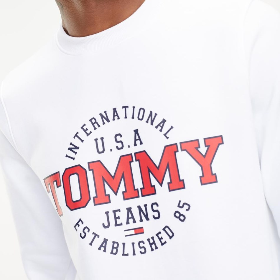 Tommy Jeans Circular Crew - classic white