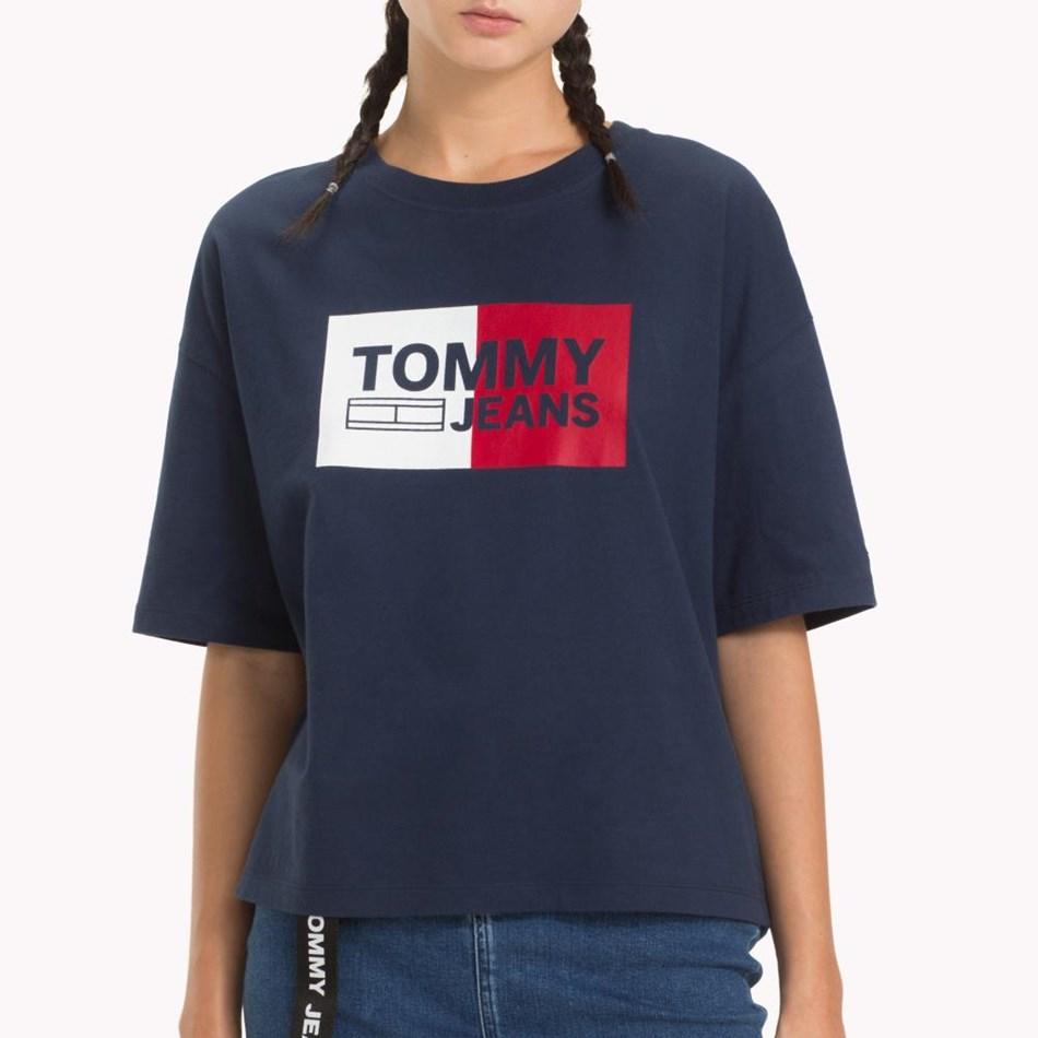 Tommy Jeans Box Logo Tee - black iris