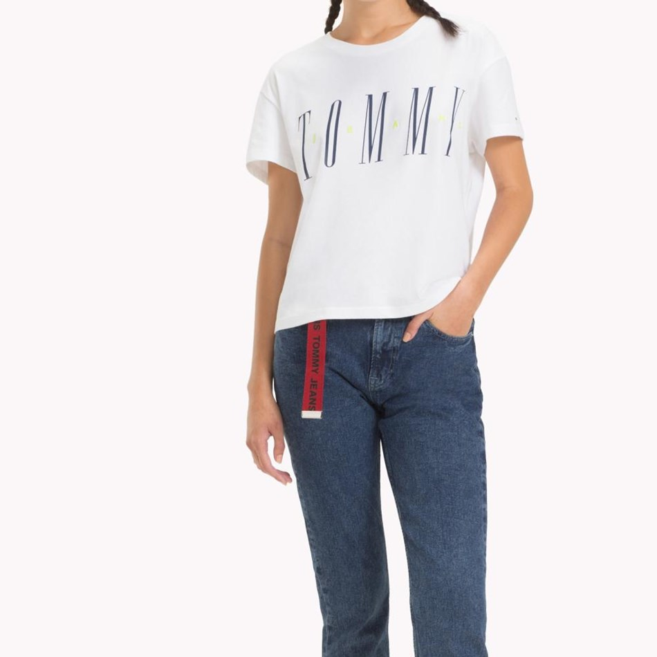 Tommy Jeans Layer Graphic Tee - classic white