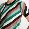 Sylvester Carnival Rib Top - green stripe