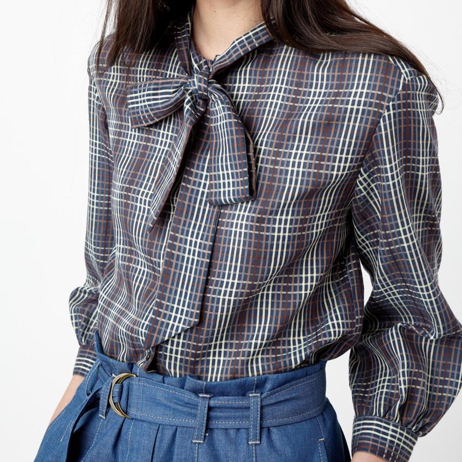 Sylvester Checkers Smock - ink