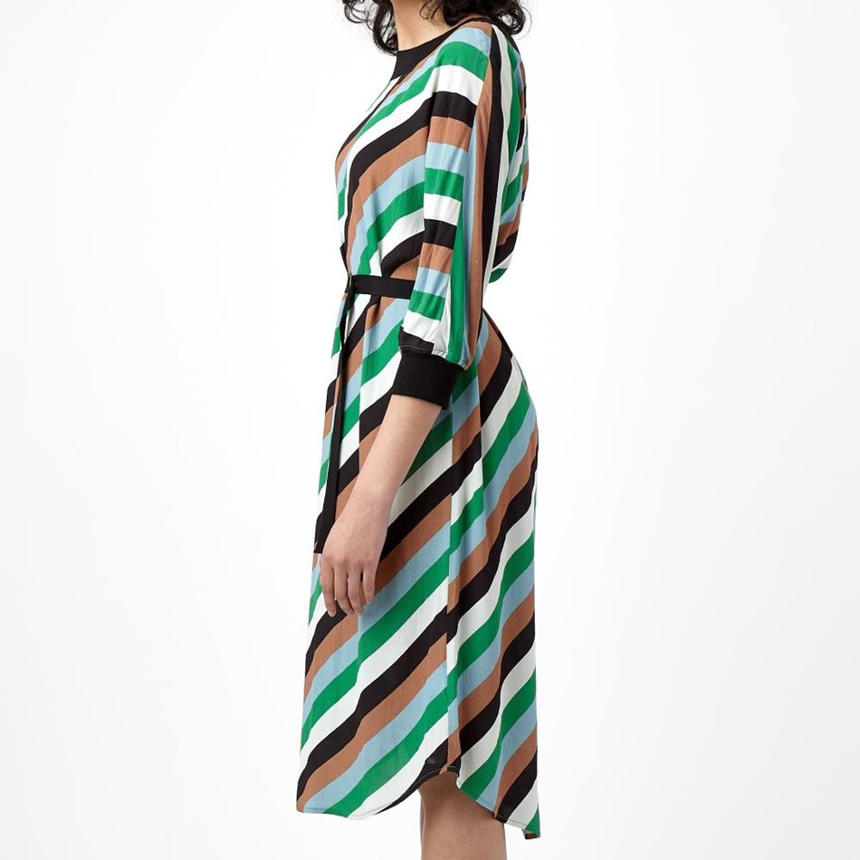 Sylvester Carnival Dress - green stripe