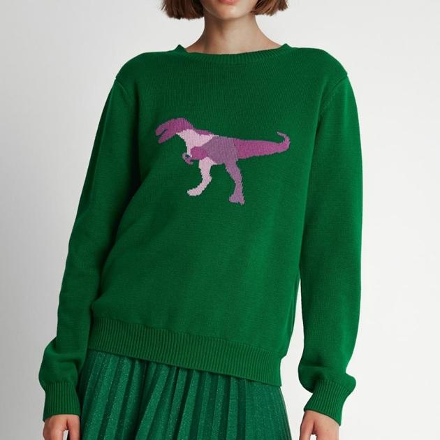Sylvester T-Rex Sweater - green