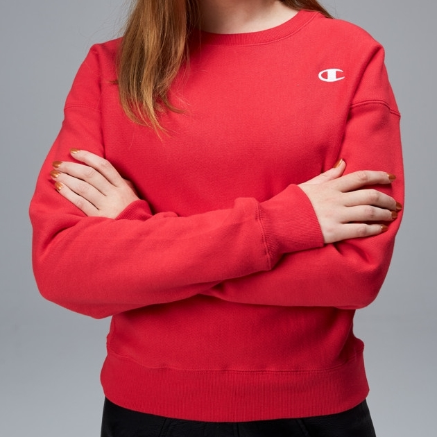 Champion Reverse Weave Crew - pvx red spark