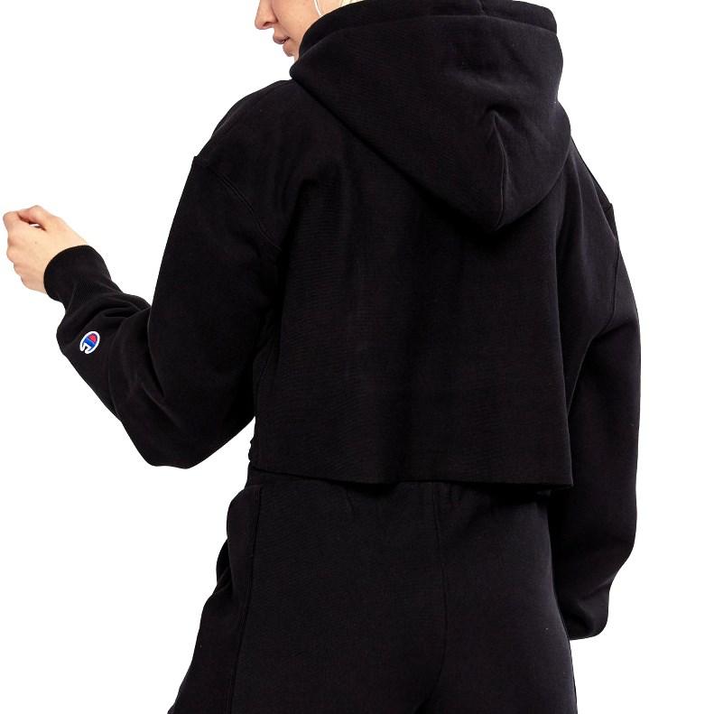Champion Reverse Weave Cropped Cut-Off Hoodie - blk - black