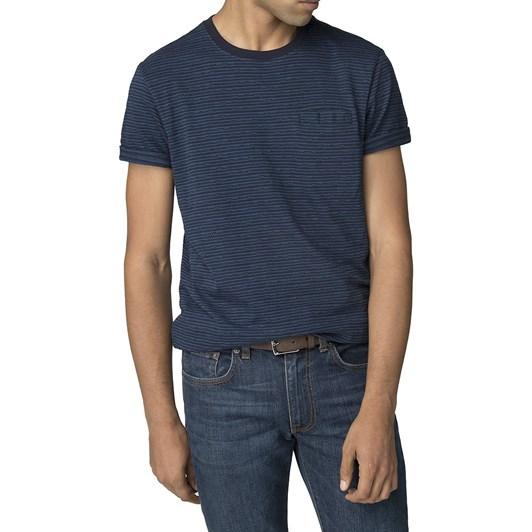 Ben Sherman Pixel Stripe T-Shirt