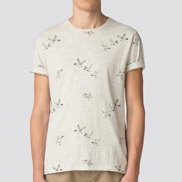 Ben Sherman Duck Aop T-Shirt - off white