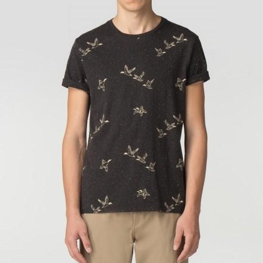 Ben Sherman Duck Aop T-Shirt - black