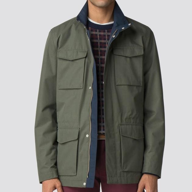 Ben Sherman Four Pocket Jacket  - dark green