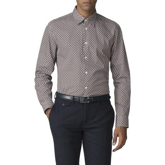 Ben Sherman L/S Parquet Geo Print Shirt
