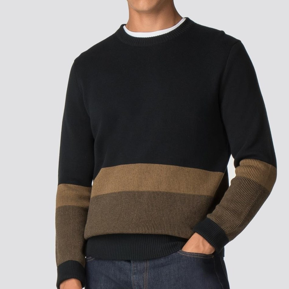 Ben Sherman Colour Block Crew Neck - black
