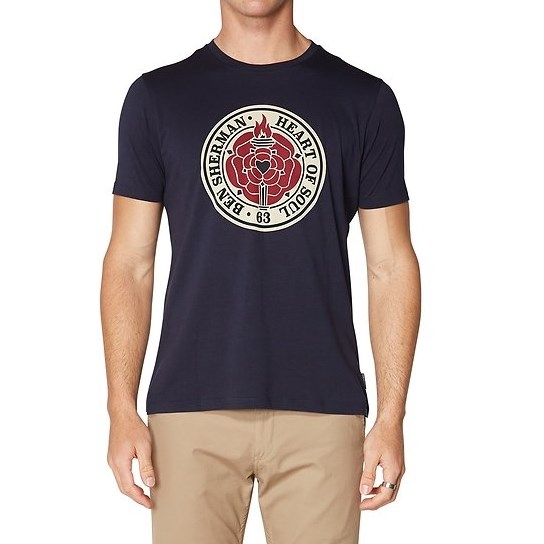 Ben Sherman Heart Of Soul Rose T-Shirt - dark navy