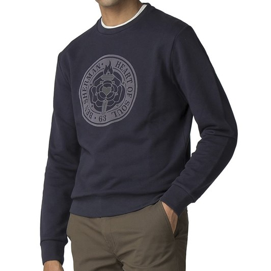 Ben Sherman Flocked Rose Emb Sweat