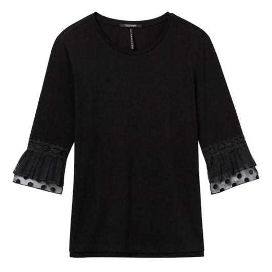 Maison Jersey Top With Lace