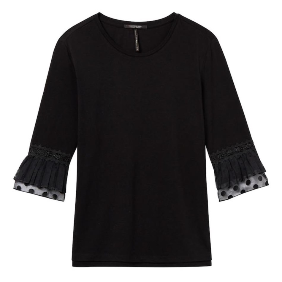 Maison Jersey Top With Lace -