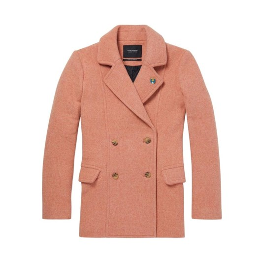 Maison Classic Peacoat With Piping