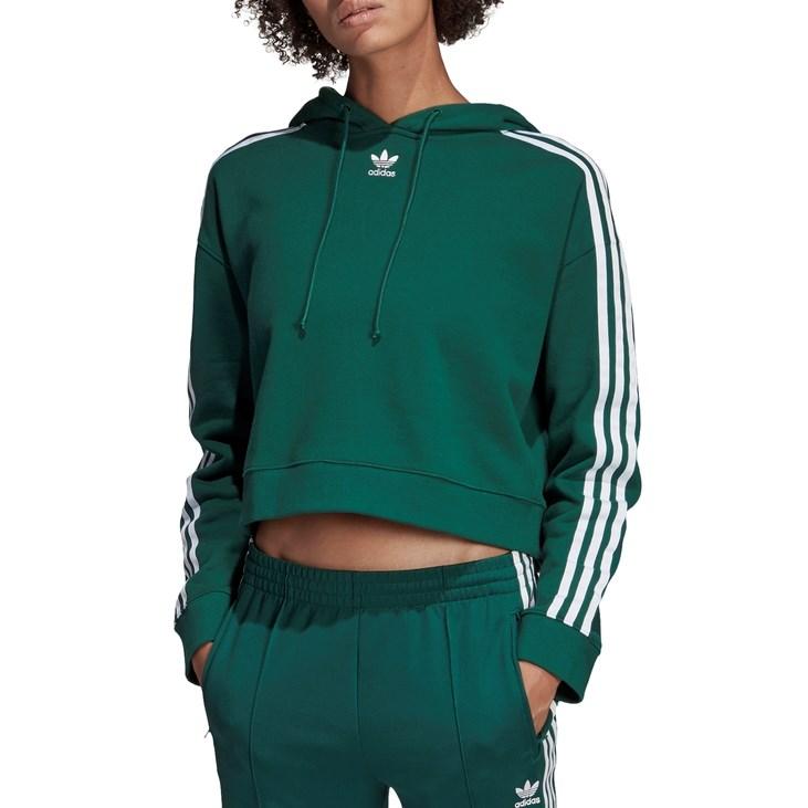 Adidas  Cropped Hoodie - cgreen