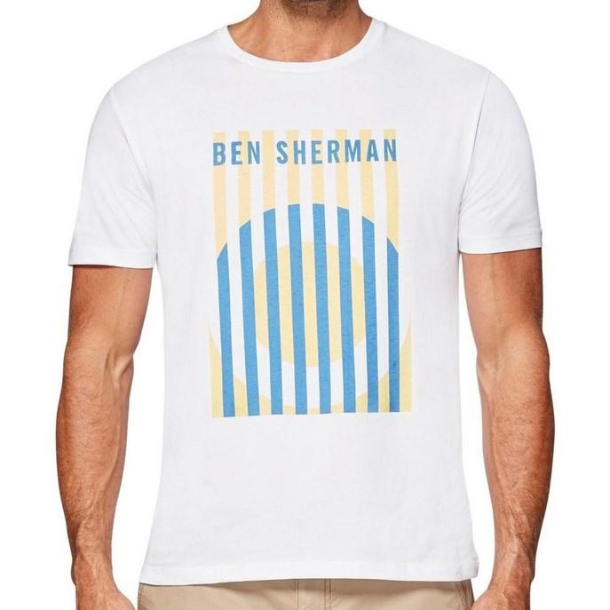 Ben Sherman Mod Target Stripe Tee - bright white