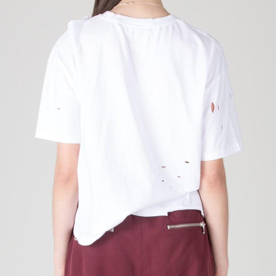 Stolen Girlfriends Club Girls Rather Ripped Tee - worn white