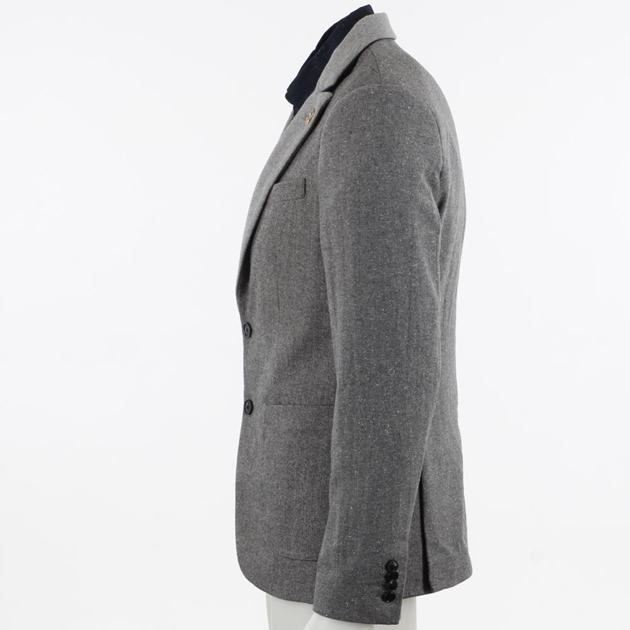 Scotch & Soda Half-Lined Wool Blazer - gry gry tweed